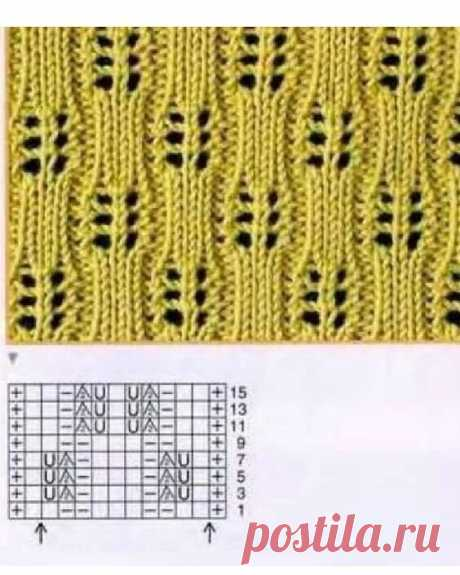 1000 ажурных узоров спицами (часть 12)   Южная сова   Яндекс Дзен