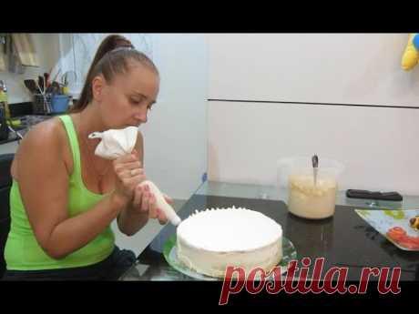 [COMO ADORNAR la TORTA] ♥ Adornamiento de la torta con la crema ♥ Adornamientos de los lados de la torta por la crema
