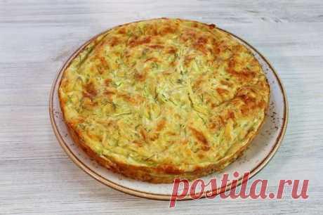 Заливной пирог с кабачками и сыром