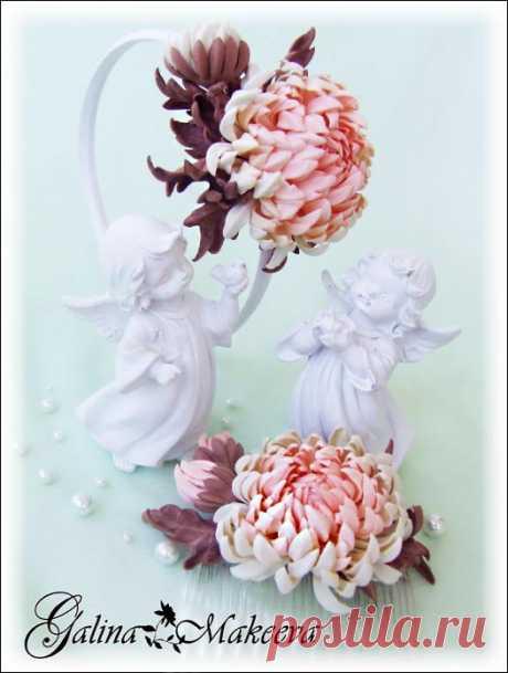 Набор Кристина (ободок + гребешок) для прекрасных мамы и дочки