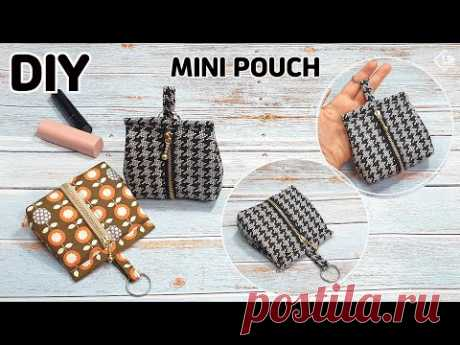 DIY MINI ZIPPER POUCH/ How to make a cute pouch/ Easy sewing tutorial [Tendersmile Handmade] - YouTube