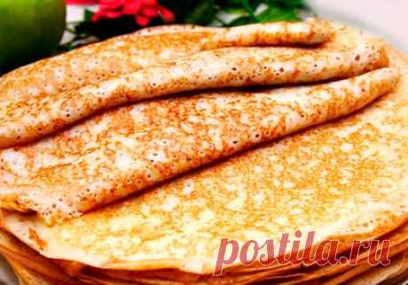 Блины на кефире тонкие с дырочками — 7 пошаговых рецептов