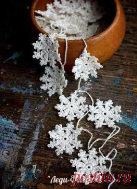 Вязаные снежинки. Схемы для крючка