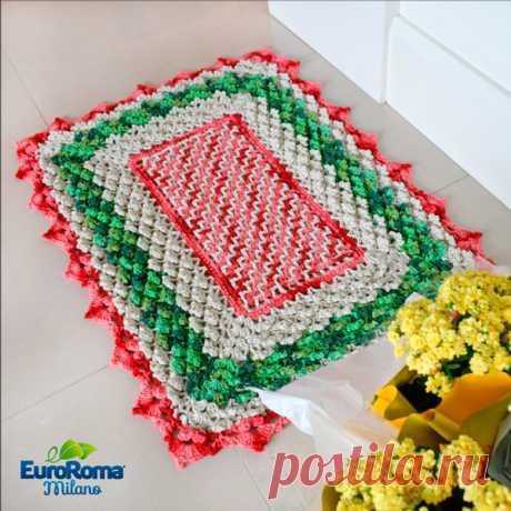 Tapete de Crochê Pico Triplo - EuroRoma Brilho - Blog do Bazar Horizonte - Maior Armarinho Virtual do Brasil.Skhemy.