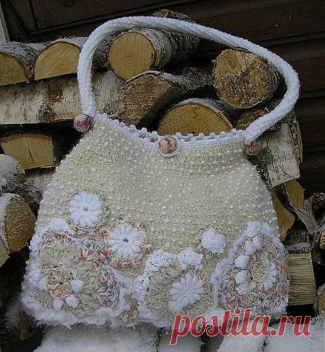 Freeform crochet bag | Beautiful Purses and Handbags