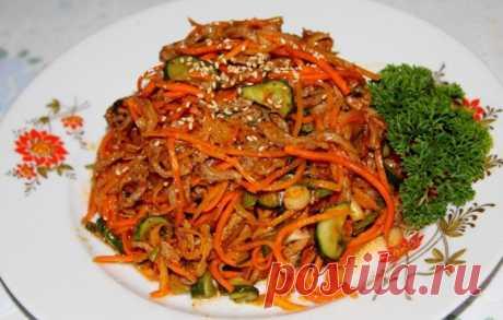 Салат с корейской морковью и грибами — Sloosh – кулинарные рецепты