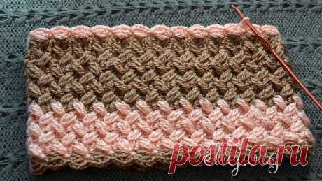 Volume wattled pattern for a snud | Knitting by a hook from Elena Kozhukhar