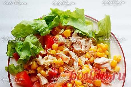 Салат с курицей и кукурузой – рецепт с фото LadyCity.Ru
