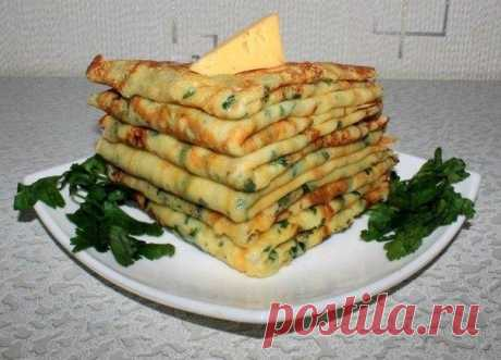 Cheese pancakes with parsley \/ Entertaining advertizing