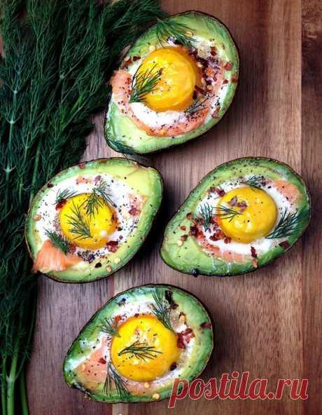 Скандинавский завтрак: запеченный авокадо – Woman Delice