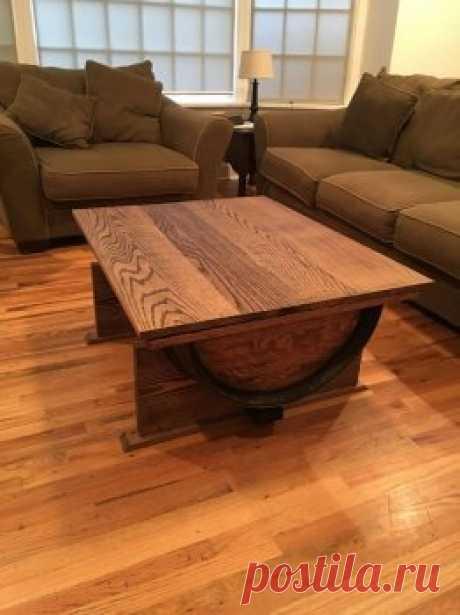 Делаем журнальный столик из деревянной бочки — Своими руками