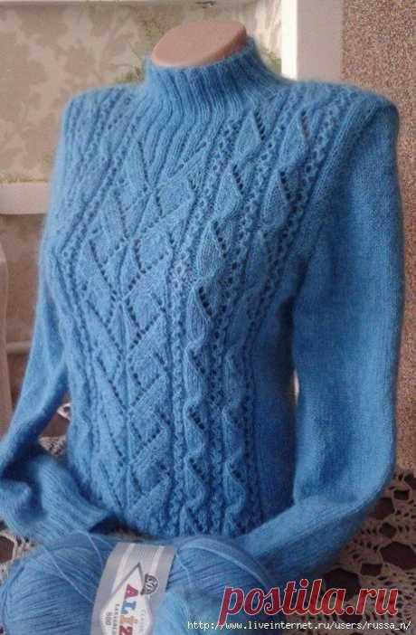 Пуловер с имитацией вшитого рукава — DIYIdeas