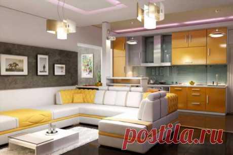 Кухня совмещенная с гостинной.   Люблю Себя