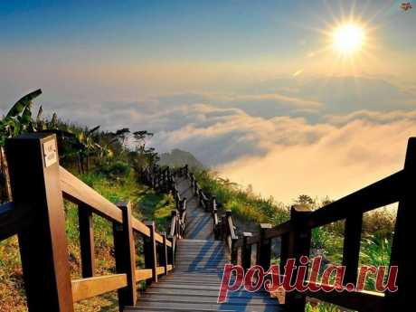 Дорога с небес на землю. Национальный Парк Юй—Шань, Тайвань.