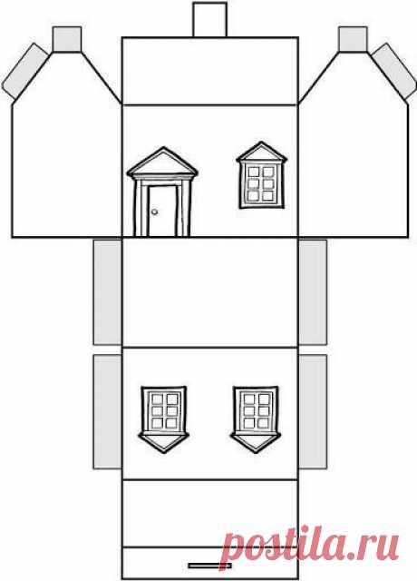 Бумажные домики для Новогоднего декора. Шаблоны. — Сделай сам, идеи для творчества - DIY Ideas