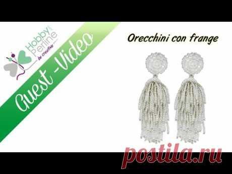 Orecchini con le frange | TUTORIAL - HobbyPerline.com