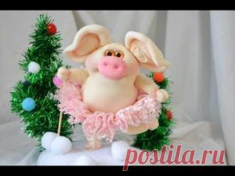 Свинка символ 2019 года. Хрюшка из капрона / Pig Symbol of 2019