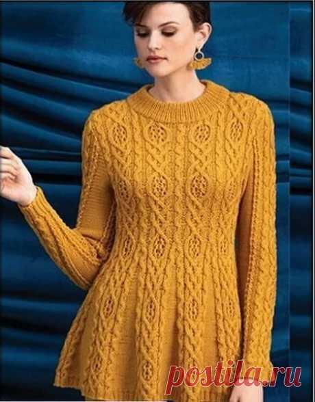 Красивые узоры для пуловеров и жилетов спицами