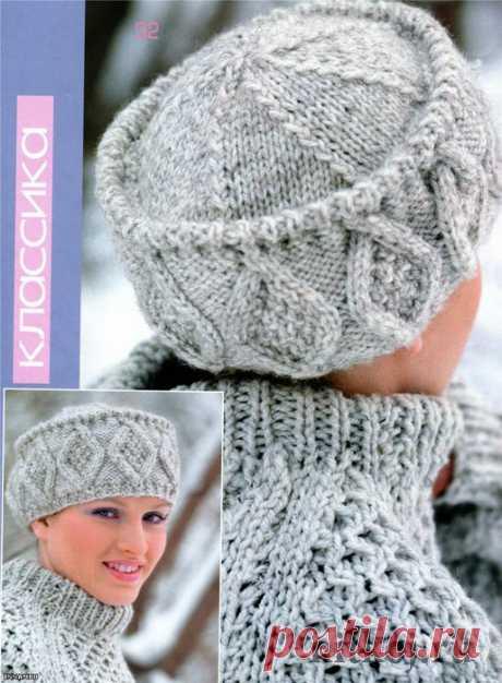 Шапка — кубанка (вязание спицами) | Журнал Вдохновение Рукодельницы