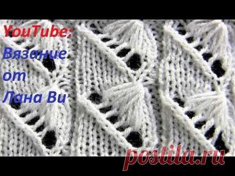 """Вязание спицами: узор спицами """"ракушка""""с вытянутыми петлями. Красивые узоры для вязания спицами"""
