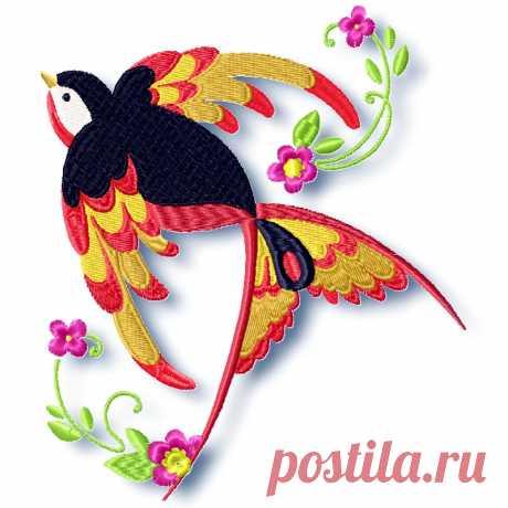 Beautiful Birds Machine Embroidery ⋆ Pamela's Embroidery
