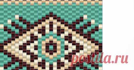 Схема браслета - мозаичное плетение - free peyote pattern | - Схемы для бисероплетения / Free bead patterns -