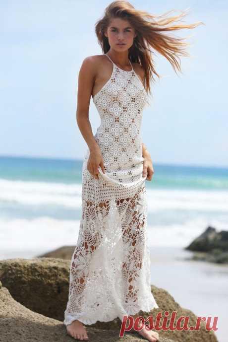 Вязание Крючком Пляжное Платье Вязание Крючком Макси Платье Вязание Крючком Платье | Etsy