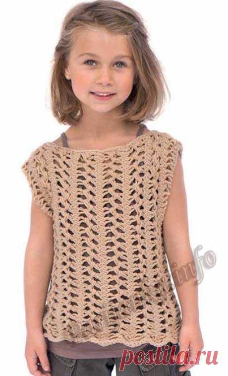Пуловер (д) 23*87 Phildar №3552