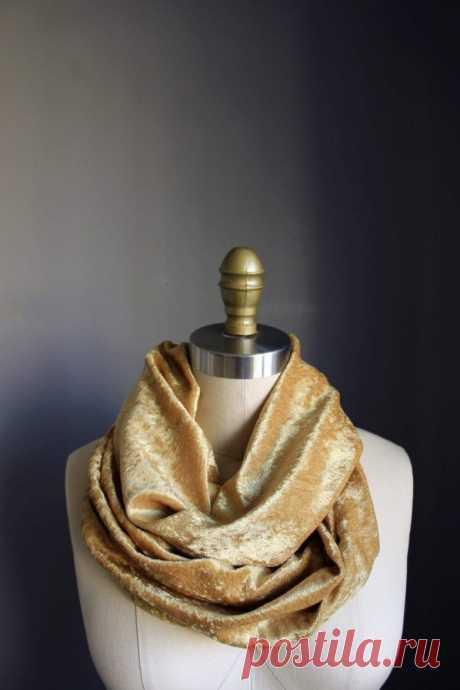 Уютный, бархатный шарф-снуд за 20 минут   Краше Всех