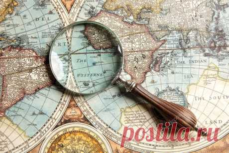 Magnifying glass and map — Stock Photo © andreyuu #18832325