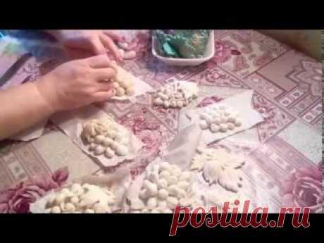 Соленое тесто, лист винограда Делается так же просто, как и гроздь.