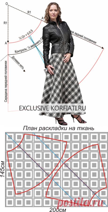 Мастер-класс по шитью юбки колокол от Анастасии Корфиати