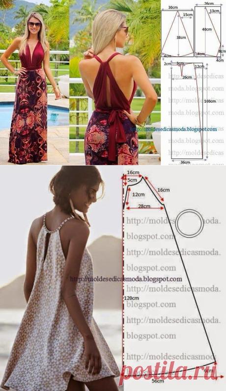 Летние платья с выкройками