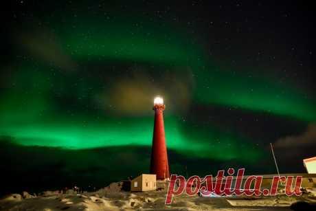 Полярное сияние в Норвегии. Автор фото — Игорь Кругликов: nat-geo.ru/photo/user/280821/ Спокойной ночи.