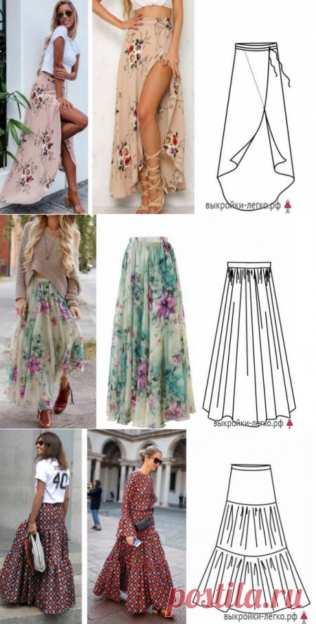 Простые летние юбки: выкройки с описанием. Лето в разгаре! Побалуй себя красивой обновкой! — HandMade