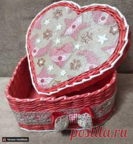 Плетеные шкатулки в виде сердца купить в Беларуси HandMade, цены в интернет магазинах