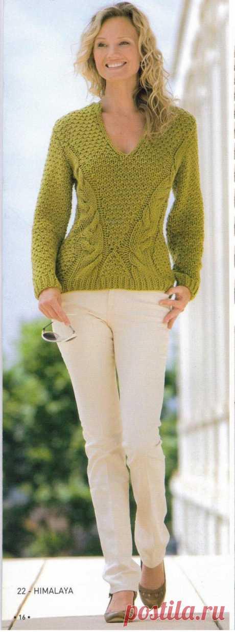 Пуловер. Спицы