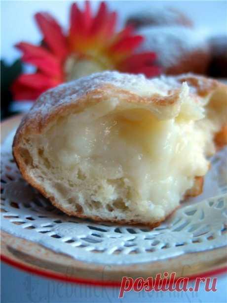 Ереванские пончики с заварным кремом. - Сладкие пироги и кексы