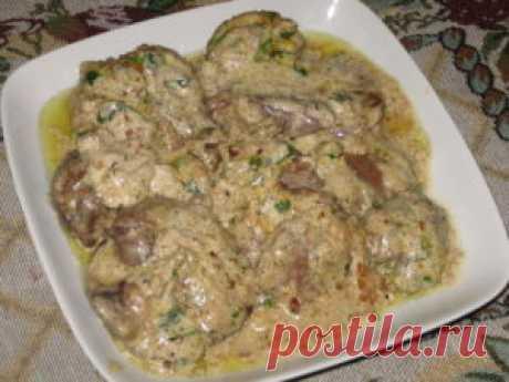 Самые проверенные рецепты - Куриная печень в орехово-чесночном соусе