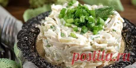 Нежный салат из кальмаров!..