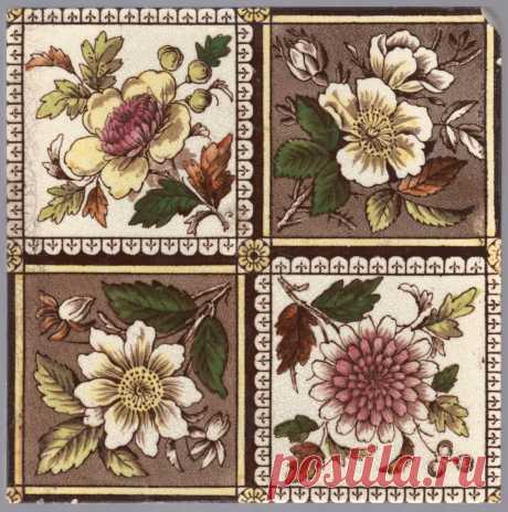 Англия, Decorative Art Tile Co около 1887 года