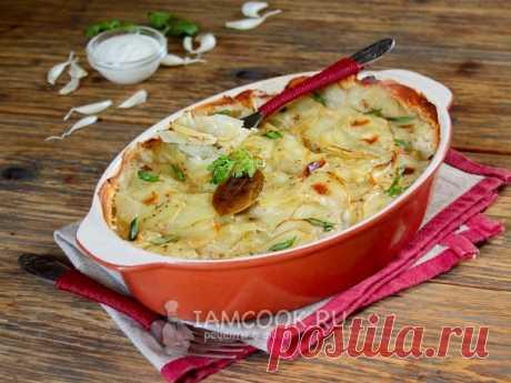 Картошка с майонезом и чесноком в духовке. Картофельное блюдо на все случаи жизни. Очень сытно и очень вкусно. Попробуйте!