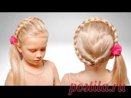 Коса за 5 минут | Прически для девочек - YouTube