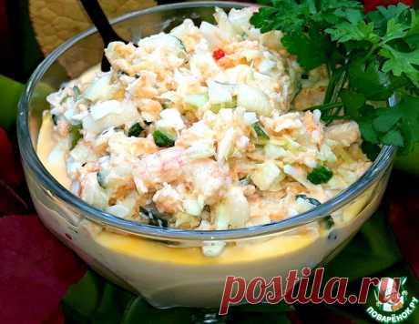 Салат с креветками и белокочанной капустой – кулинарный рецепт