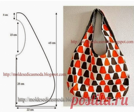 Выкройки удобных и вместительных сумок-пакетов для тех, кто заботится об экологии
