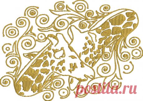 Diseño de bordado de máquina de jirafa