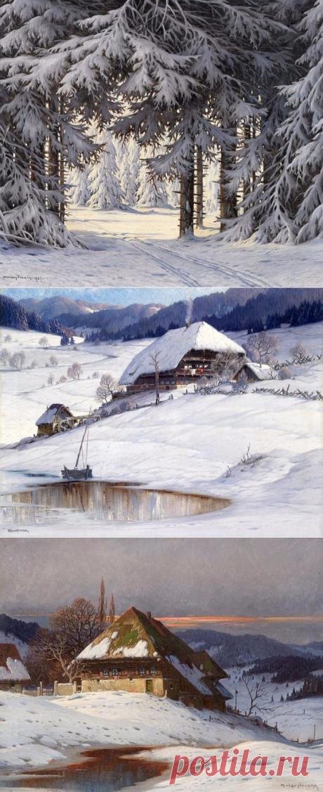 ХУДОЖНИК KARL HAUPTMANN.Альпийские пейзажи.