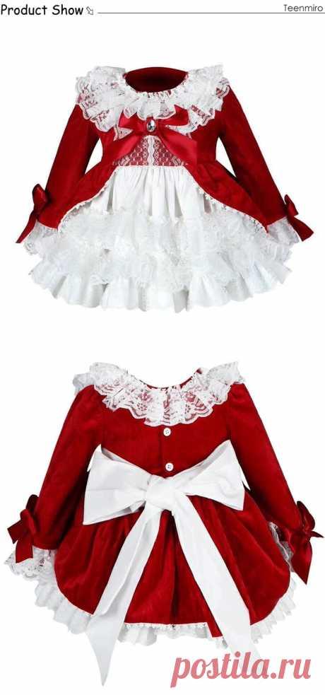 4 шт.; испанское платье; Королевские костюмы для девочек; Детские платья принцессы на свадьбу и День рождения; вечерние кружевные платья; Fille; Рождественская одежда для маленьких девочек-in Платья from Мать и ребенок on AliExpress - 11.11_Double 11_Singles' Day