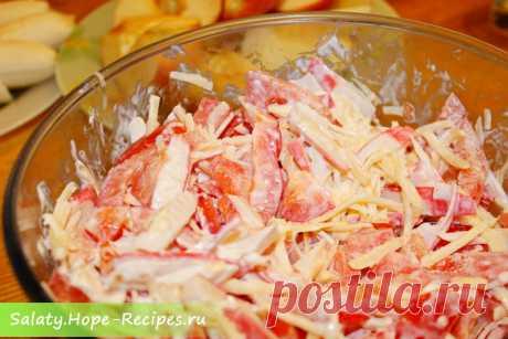 Красное море— салат с крабовыми палочками и помидорами « Рецепты салатов