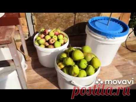 Мой самодельный пресс для яблок овощей и фруктов.